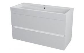 allaskaappi Interia Largo 99x50x41 cm, valkoinen