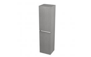 korkea kaappi  Interia Largo pesukorviga 35x140x30 cm vasen/oikea, Silver Oak