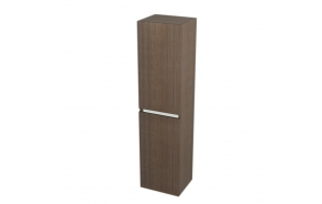 korkea kaappi  Interia Largo pesukorviga 35x140x30 cm vasen/oikea, Pine Rustic