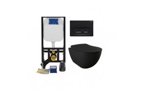 Seinä-WC-paketti Creavit GR50320-D2, musta