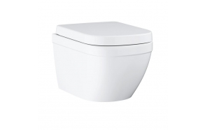wc-istuin Grohe Euro No Rim, seinämalli, valkoinen + soft close istuinkansi