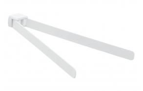 Kääntyvä pyyheteline 350 mm Pyrene, matta valkoinen