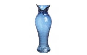 Sininen pöllön muotoinen lasivaasi