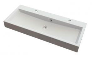 pesuallas Interia Orinoko, komposiittikivi, kaksi hanareikää, 1000 X 420 X 100 mm