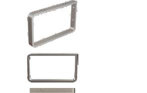 kromatut kannattimet (2 kpl) pesualtaan seinälle kiinnittämiseen, 210*120*20 mm