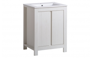allaskaappi Interia Classic Andersen, 60, 61 x 82 x 46 cm, valkoinen
