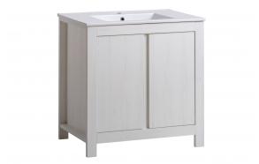allaskaappi Interia Classic Andersen 80, 81x82x46 cm, valkoinen