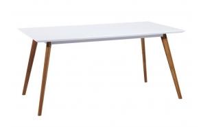 ruokapöytä Nordic, valkoinen/tammi, 160x90 cm