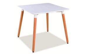ruokapöytä Nordic 2, valkoinen/pyökki, 80x80 cm