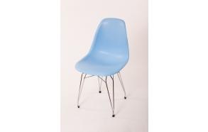 tuoli Alexis, sininen, kromiset metallijalat