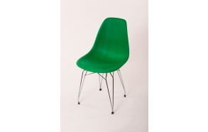tuoli Alexis, vihreä, kromiset metallijalat