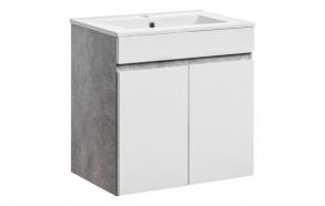 allaskaappi Interia Atelier 60, 59x60x39 cm, valkoinen/harmaa
