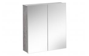 peilikaappi Interia Atelier, 65x60x15 cm, valkoinen/harmaa