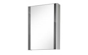 peilikaappi Interia Domino, 47x67x14 cm, harmaa/valkoinen