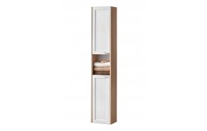 korkea kaappi Interia Piano, 300x1600x190 mm, kaksiovinen, tammi/valkoinen