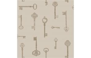 Keys Sidewall, Taupe / Gold
