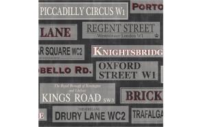 London Sidewall, Red / Black