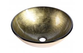 lasiallas Interia Fianna, pöytätasolle, kullahohtoinen, 420 X 420 X 140 mm