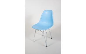 tuoli Alexis, sininen, valkoiset metallijalat