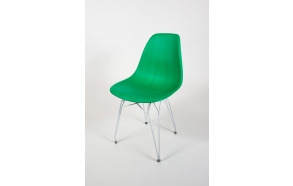 tuoli Alexis, vihreä, valkoiset metallijalat