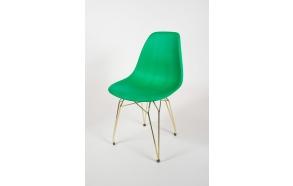 tuoli Alexis, vihreä, kultaiset metallijalat