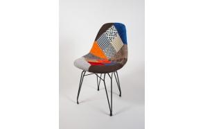 tuoli Alexis, patchwork, mustat metallijalat