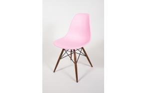 tuoli Alexis, vaaleanpunainen, ruskeat pyökkijalat