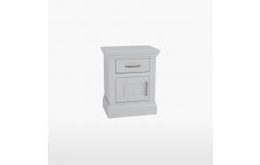 Yökaappi 1 laatikolla ja 1 ovella, joka avautuu vasemmalle
