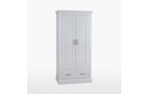 vaatekaappi 2 ovella ja 1 laatikolla