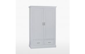 vaatekaappi 2 ovella ja 2 laatikolla