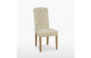 kangaspehmustettu tuoli Buttonn