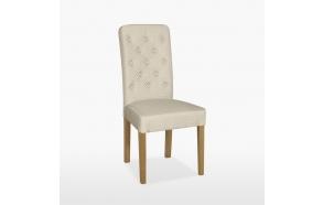 nahkapehmustettu tuoli Buttonn