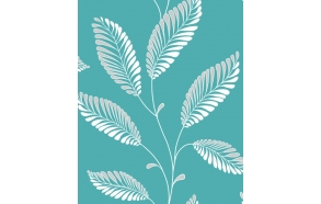 Accents Leaf Turquosie/Grey