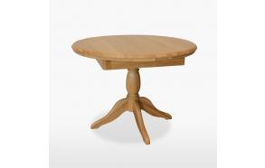 pyöreä jatkettava ruokapöytä 106/145 cm