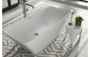 kivimassa kylpyamme Interia Anglesey II, 410 l, 1800 x 800 mm, mattavalkoinen