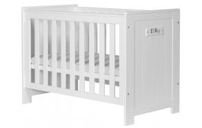 vauvansänky Barcelona, 120x60, sänkylaatikko ei kuulu hintaan, valkoinen