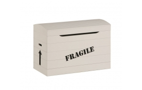 "lelulaatikko ""Fragile"", beige"