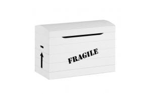 """lelulaatikko """"Fragile"""", valkoinen"""