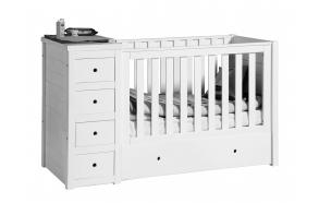 vauvansänky Paso Doble, 120x60, valkoinen