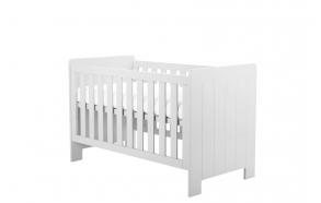 vauvansänky-sänky Calmo 140x70 cm, sänkylaatikko ei kuulu hintaan, valkoinen