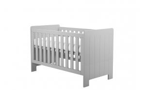 vauvansänky-sänky Calmo 140x70 cm, sänkylaatikko ei kuulu hintaan, harmaa