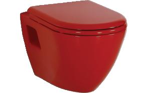 wc-istuin Creavit TP325, seinämalli, punainen
