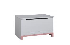 lelulaatikko Mini, valkoinen+pinkki