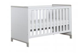 vauvansänky-sänky Mini, 140x70, valkoinen+harmaa