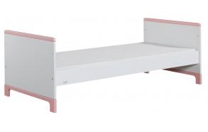 sänky juunior, 160x70, valkoinen+pinkki