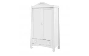 2-ovinen vaatekaappi Parole, valkoinen