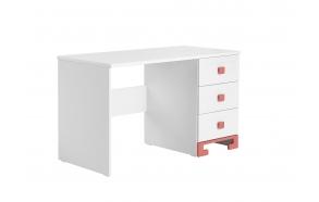 kirjoituspöytä Toto, valkoinen+pinkki