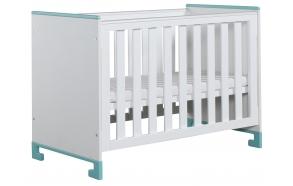 vauvansänky Toto, 120x60, sänkylaatikko ei kuulu hintaan, valkoinen+turkoosi