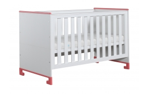 vauvansänky-sänky Toto, 140x70, valkoinen+pinkki