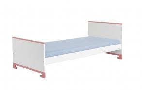 sänky juunior, 160x70 , valkoinen+pinkki